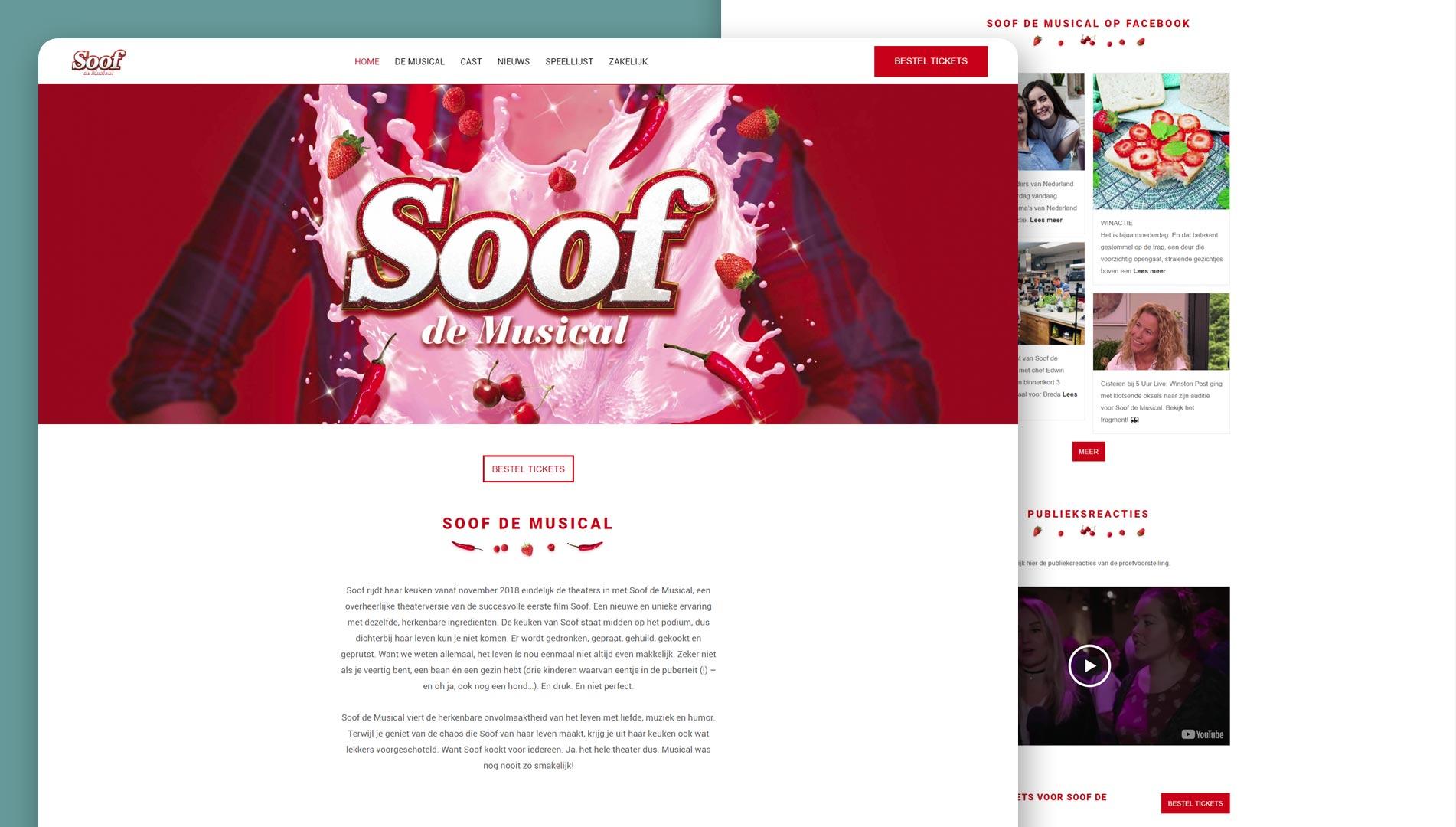 Soof de Musical website